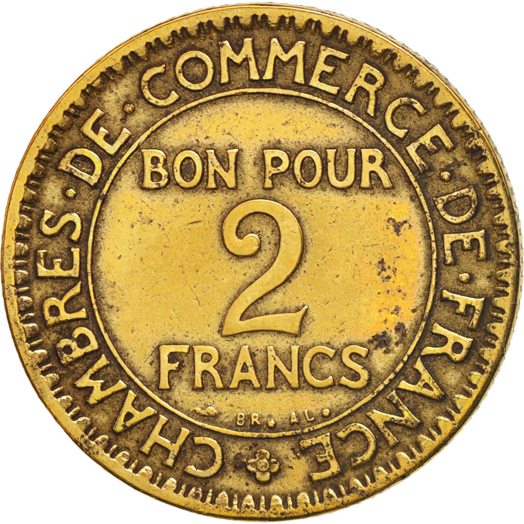 407949 france chambre de commerce 2 francs 1922 paris for Chambre commerce international paris
