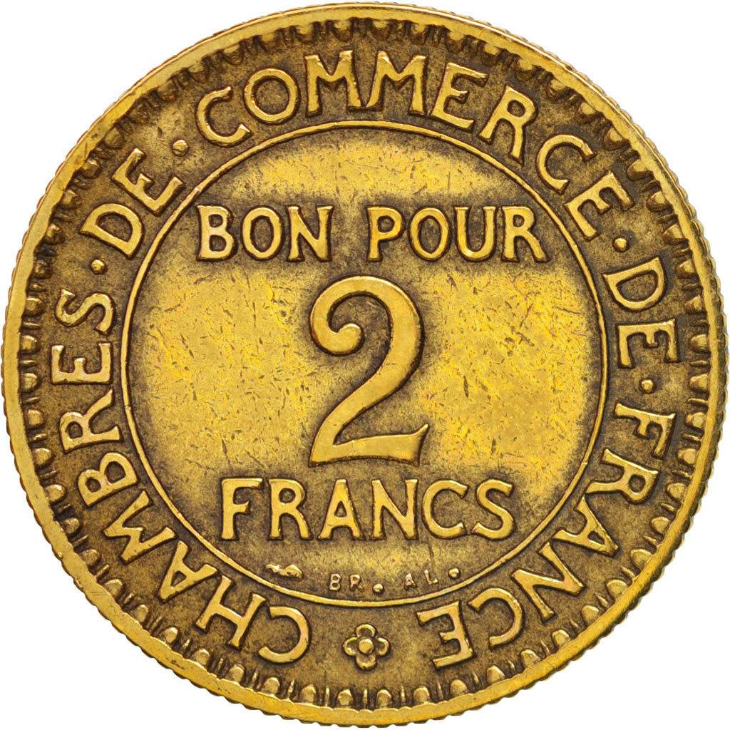 407950 france chambre de commerce 2 francs 1924 paris for Chambre de commerce de france bon pour 2 francs