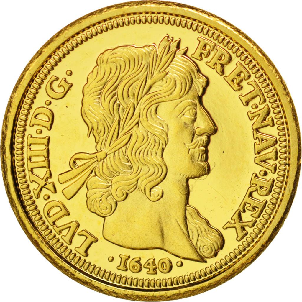 408167 france medal 10 louis dor au col nu de 1640 louis xiii history spl or spl. Black Bedroom Furniture Sets. Home Design Ideas