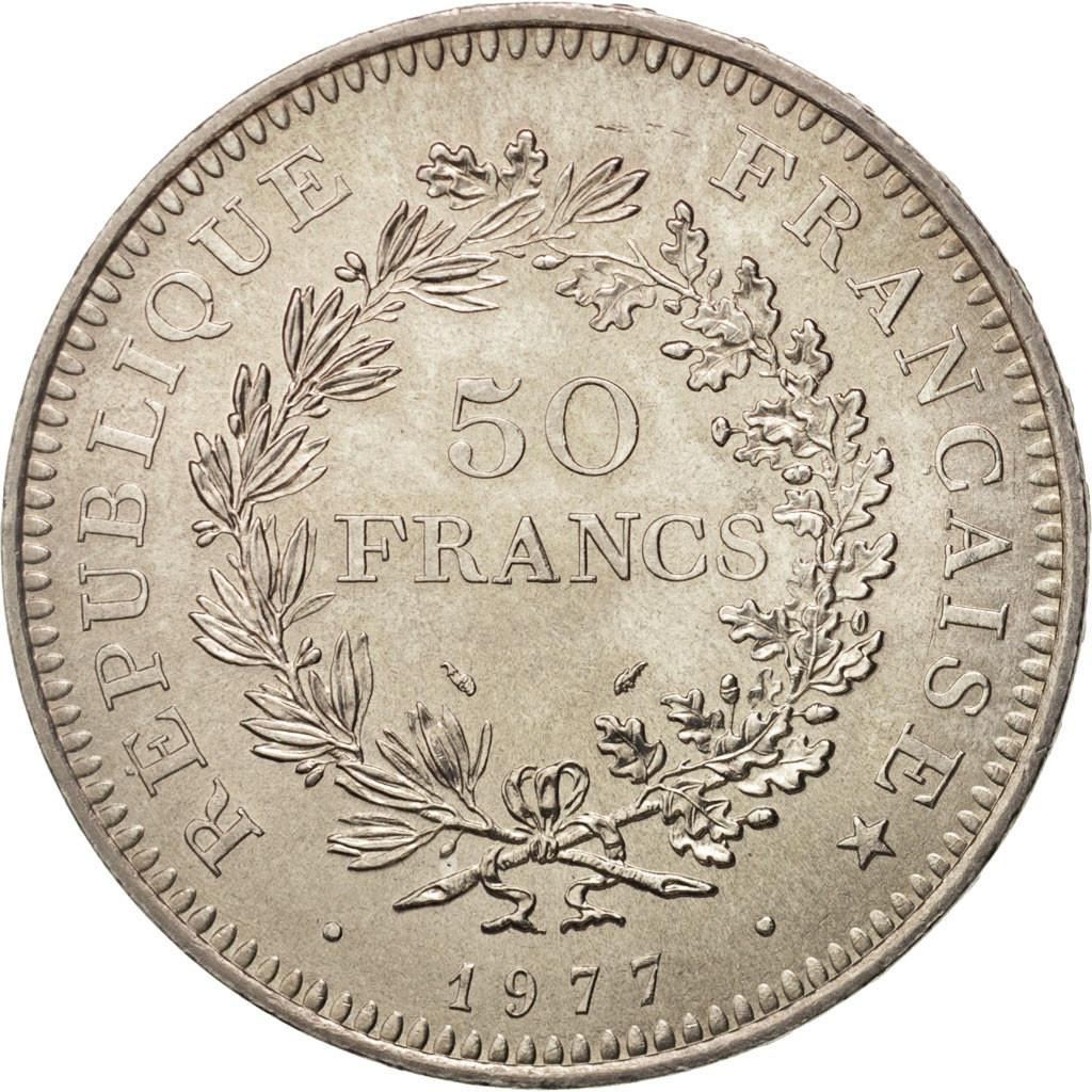 408802 france hercule 50 francs 1977 paris spl argent km 941 1 gadoury 882 spl 50. Black Bedroom Furniture Sets. Home Design Ideas