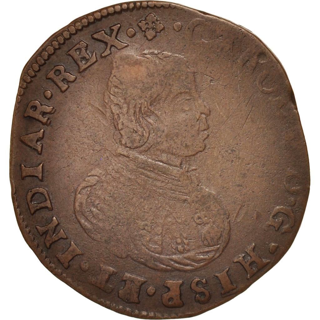 412037 belgique token spanish netherlands charles ii bruxelles bureau des finances tb. Black Bedroom Furniture Sets. Home Design Ideas