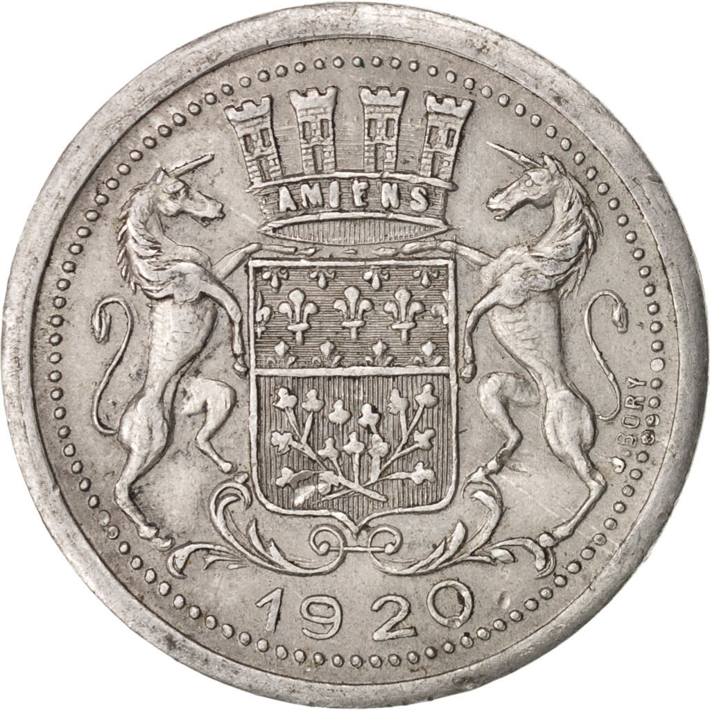 413706 amiens chambre de commerce 10 centimes 1920 for Chambre de commerce amiens