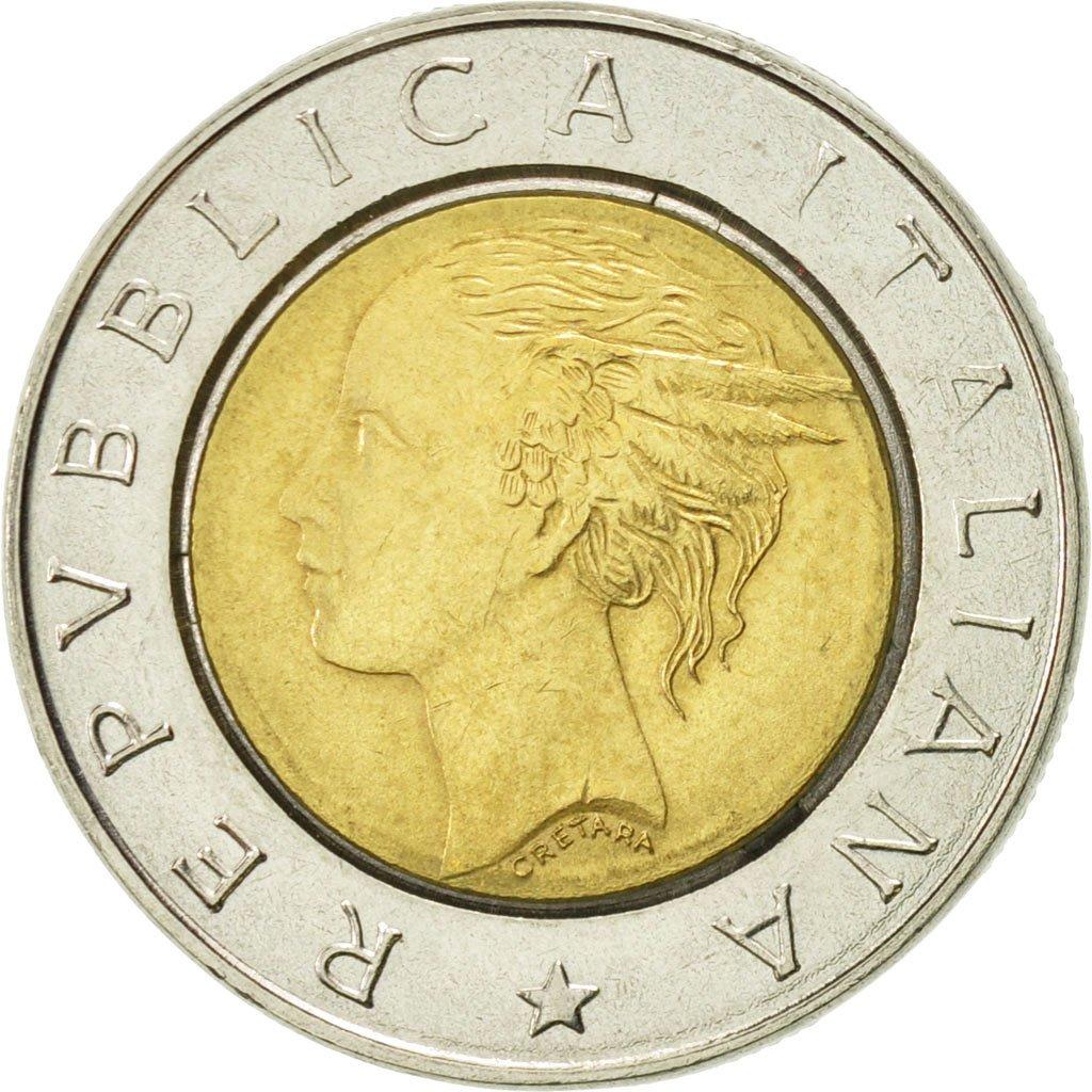 #422644 Italie, 500 Lire, 1992, Rome, TTB+, Bi-Metallic ...