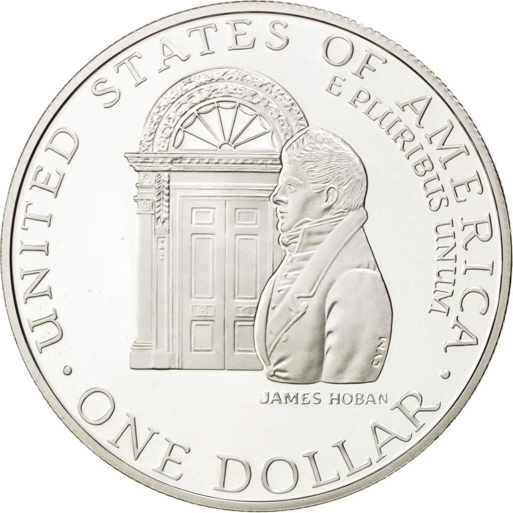 43246 tats unis silver dollar 1992 w bicentenaire maison blanche km 236 fdc 1 dollar de. Black Bedroom Furniture Sets. Home Design Ideas