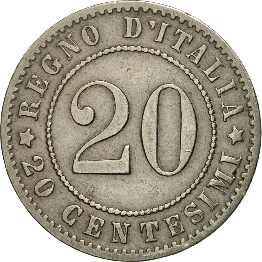 #451757 Italie, Umberto I, 20 Centesimi, 1894, Rome, TTB+ ...