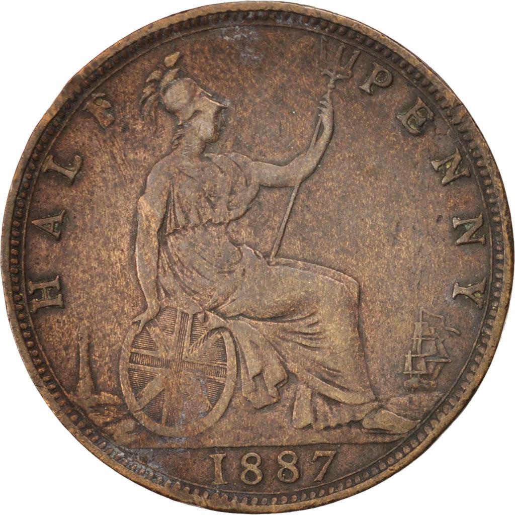 45585 grande bretagne victoria 1 2 penny 1887 km 754 - Chambre de commerce francaise de grande bretagne ...