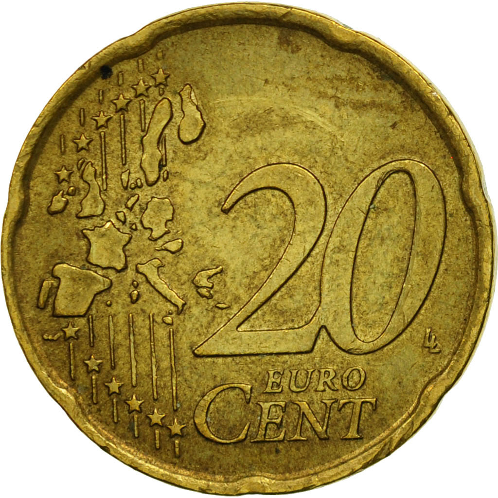 461277 italy 20 euro cent 2002 brass km 214 ebay. Black Bedroom Furniture Sets. Home Design Ideas