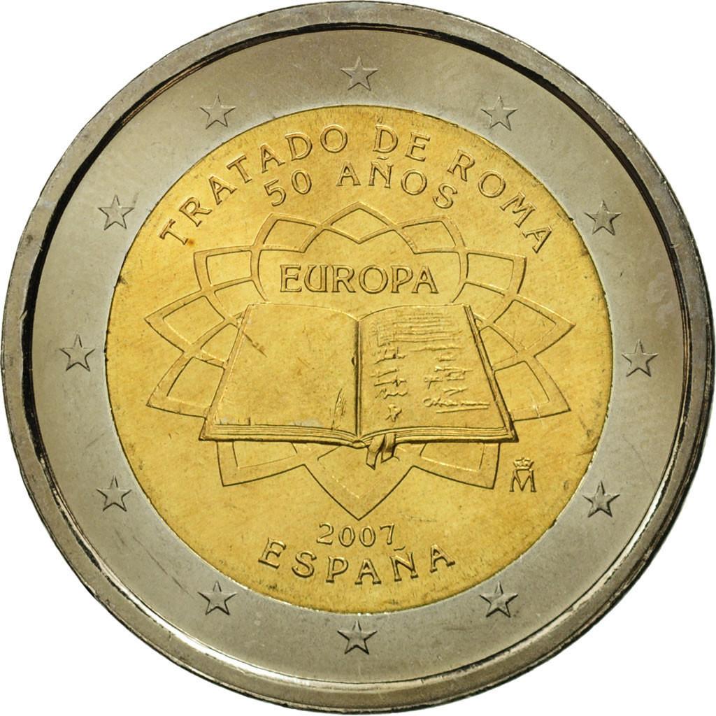 #463379 Espagne, 2 Euro, Traité de Rome 50 ans, 2007, SPL ...