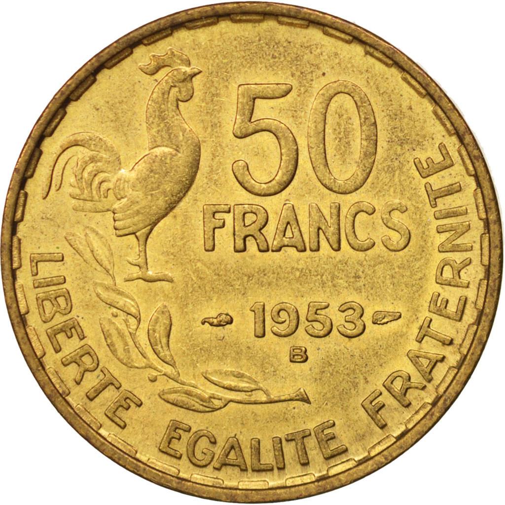 500434 france guiraud 50 francs 1953 beaumont le roger sup gadoury 880 sup 50 francs. Black Bedroom Furniture Sets. Home Design Ideas