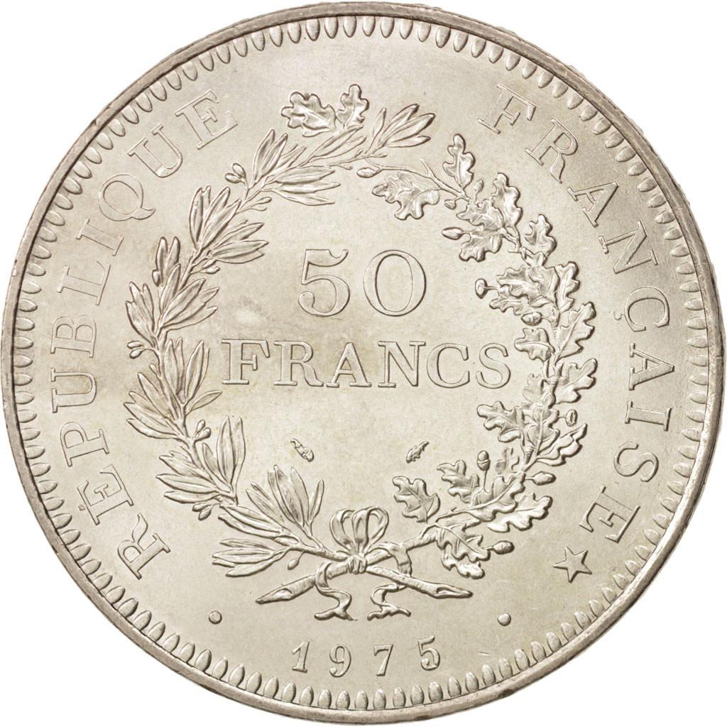 501111 france hercule 50 francs 1975 paris fdc argent km 941 1 gadoury 882 fdc 50. Black Bedroom Furniture Sets. Home Design Ideas