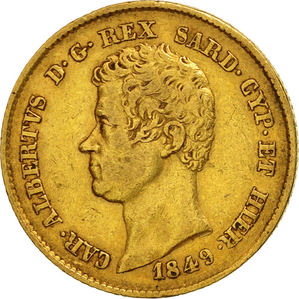 506453 italian states sardinia carlo alberto 20 lire for Coin torino