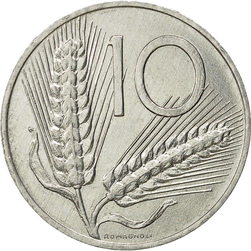 #522303 Italie, 10 Lire, 1980, Rome, TTB+, Aluminium, KM ...