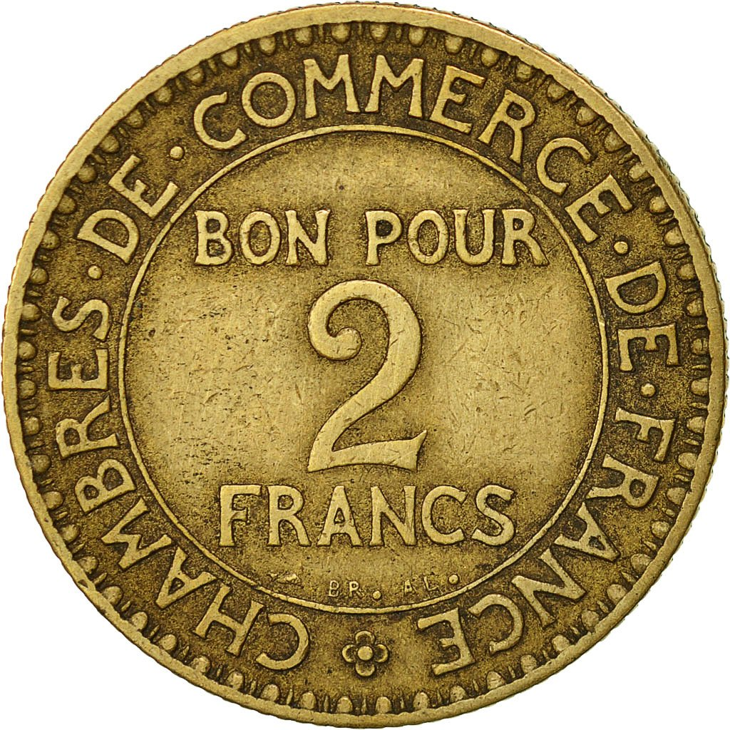 522337 france chambre de commerce 2 francs 1920 paris for Chambre commerce france