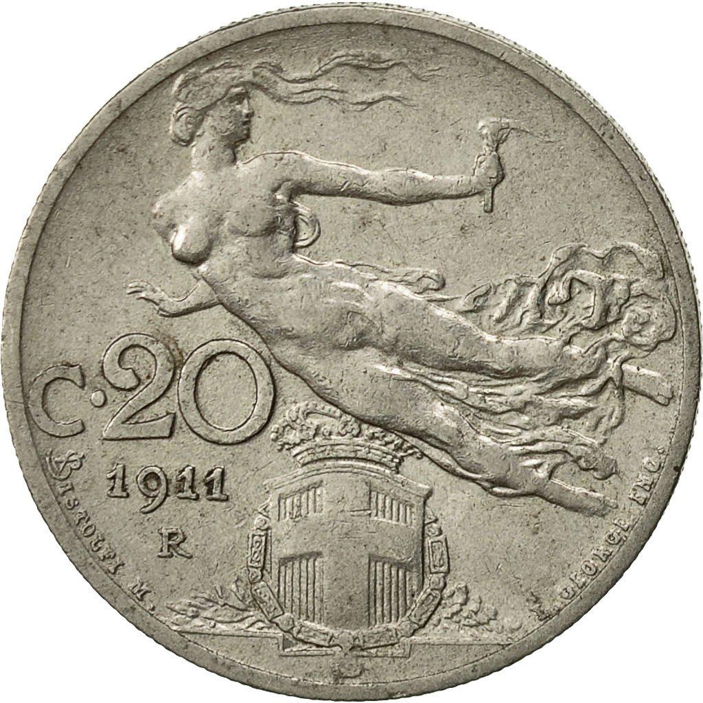 #522559 Italie, Vittorio Emanuele III, 20 Centesimi, 1911 ...