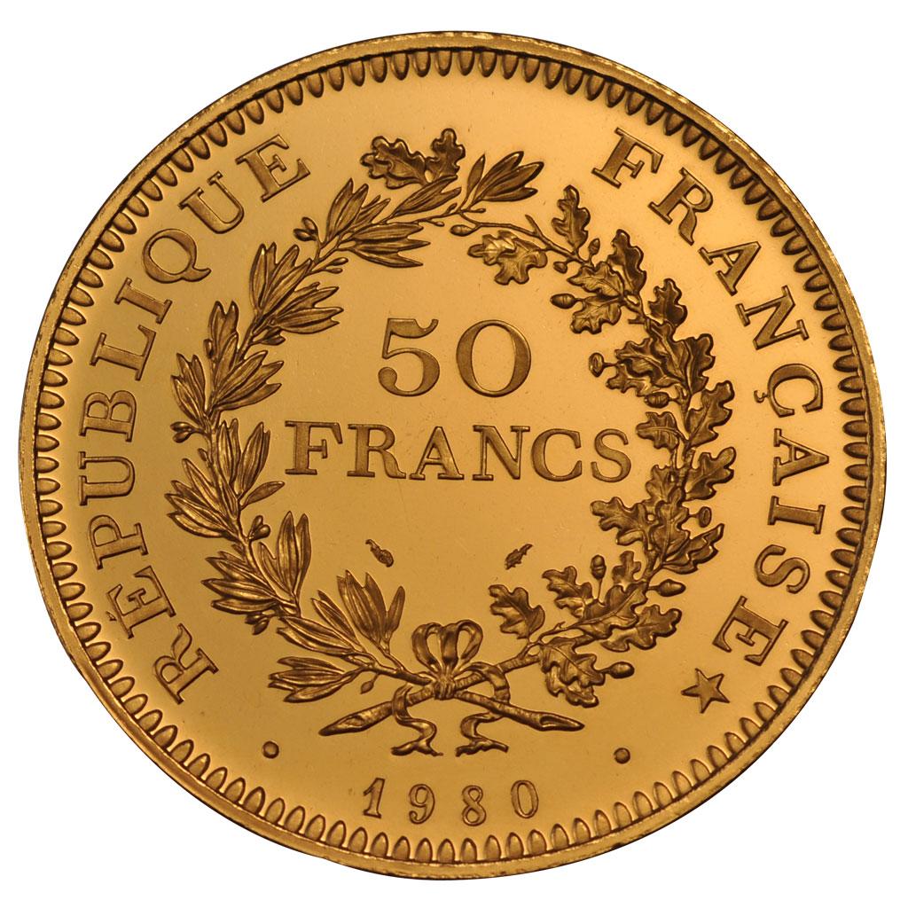 54271 v me r publique 50 francs hercule pi fort en or fdc 50 francs plus de 500 euros or. Black Bedroom Furniture Sets. Home Design Ideas