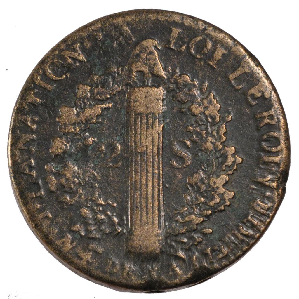 55842 constitution 2 sols fran ois tb 2 sols de 151 500 euros arras bronze 1792 - Point p arras ...