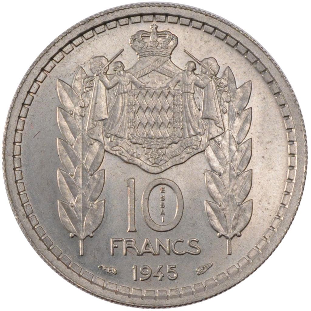 monnaies monaco coins monaco monaco louis ii 10 francs ebay. Black Bedroom Furniture Sets. Home Design Ideas