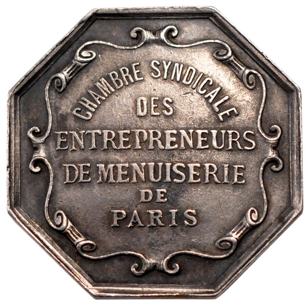 58457 chambre syndicale des entrepreneurs de menuiserie de paris jeton ttb jeton de 51 - Chambre syndicale des eaux minerales ...