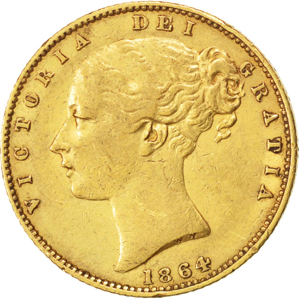 59346 grande bretagne victoria souverain ecusson 1864 - Chambre de commerce francaise de grande bretagne ...