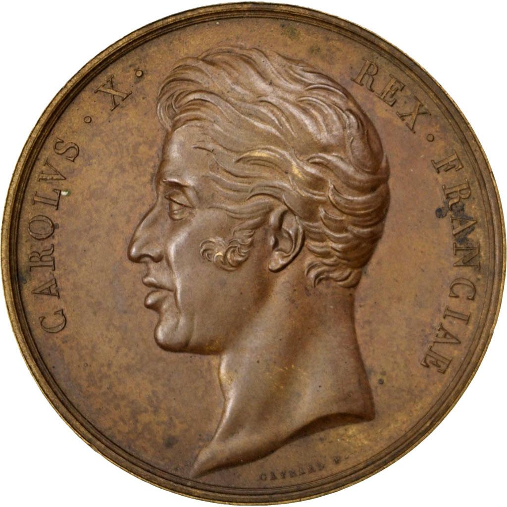 Charles X, Médaille, Sacre à Reims