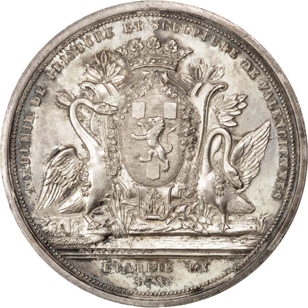 #63561 Académie de peinture et sculpture de Valenciennes, Médaille : SUP, Histoire, Médaille, De ...