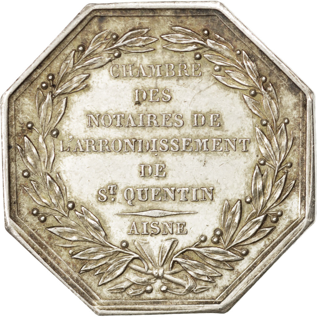 68805 chambre des notaires de l 39 arrondissement de saint quentin jeton lerouge 372 ttb - Chambre des notaires de l aisne ...