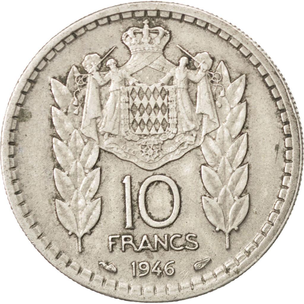 75074 monaco louis ii 10 francs 1946 km 123 ttb 10 francs de 5 15 euros nickel 1946. Black Bedroom Furniture Sets. Home Design Ideas