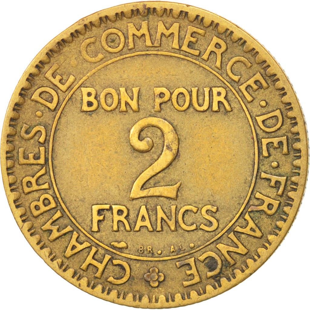 77725 france chambre de commerce 2 francs 1926 paris for Chambre commerce international paris