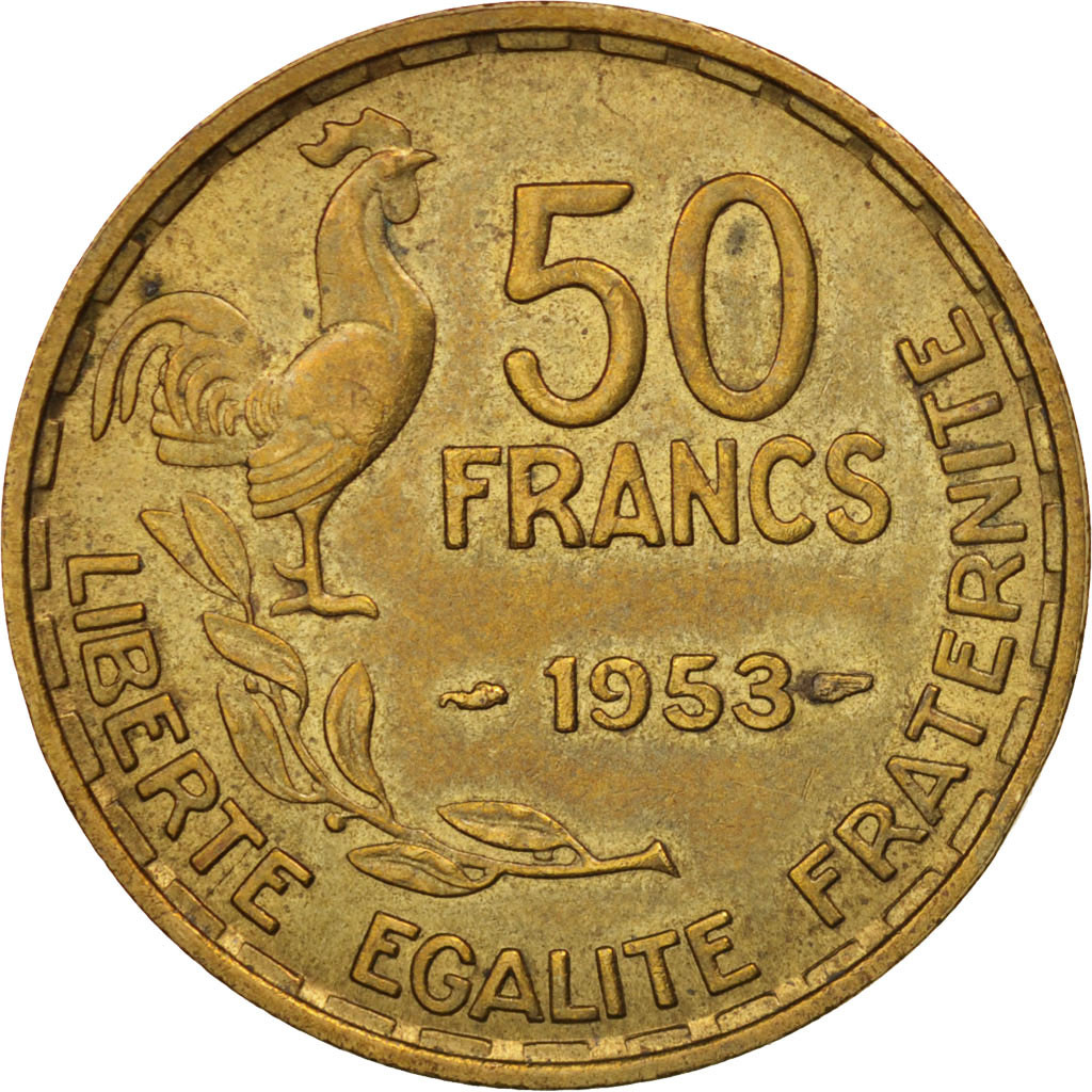 78043 france guiraud 50 francs 1953 paris sup alu bronze km 918 1 gadoury 880 sup 50. Black Bedroom Furniture Sets. Home Design Ideas