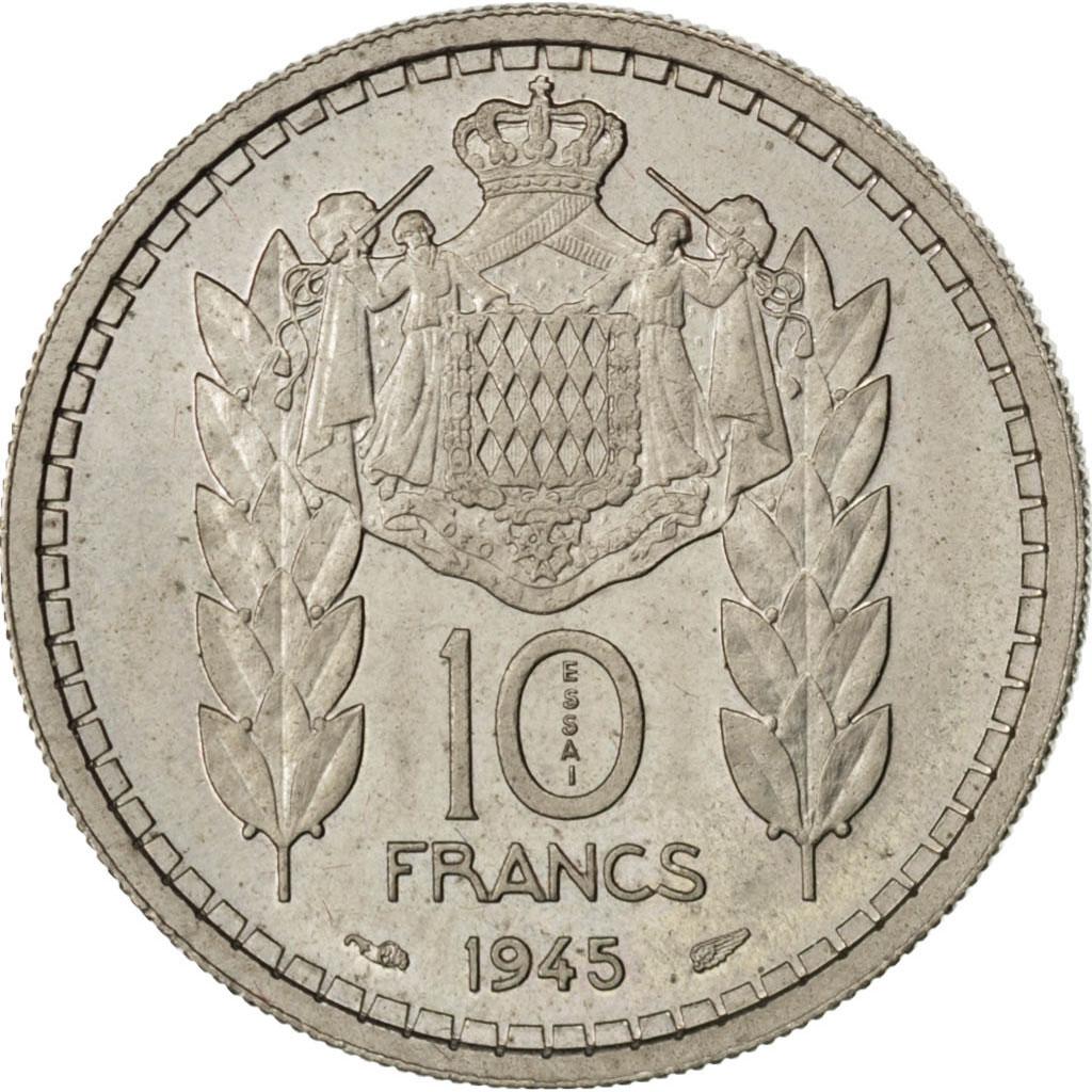 82876 monaco louis ii 10 francs 1945 essai km e18 sup 10 francs de 51 150 euros cupro. Black Bedroom Furniture Sets. Home Design Ideas