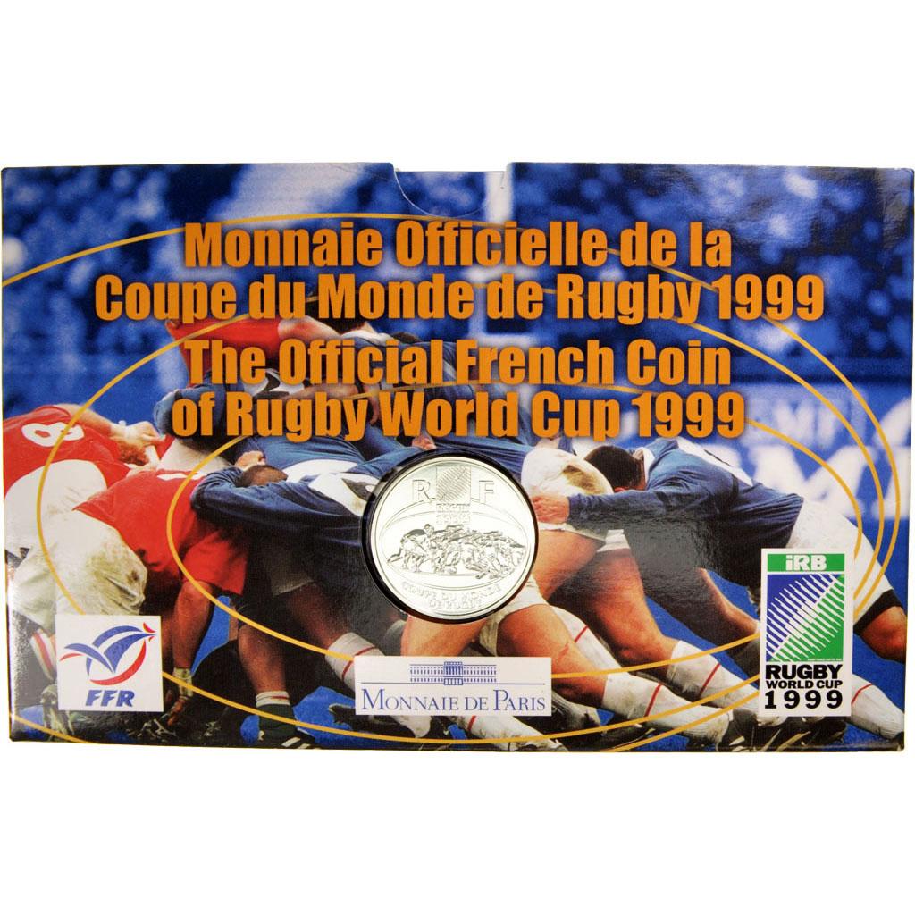 84547 v me r publique coffret 1 franc coupe du monde de rugby 1999 km 1291 fdc 1 franc de - Rugby coupe du monde 1999 ...