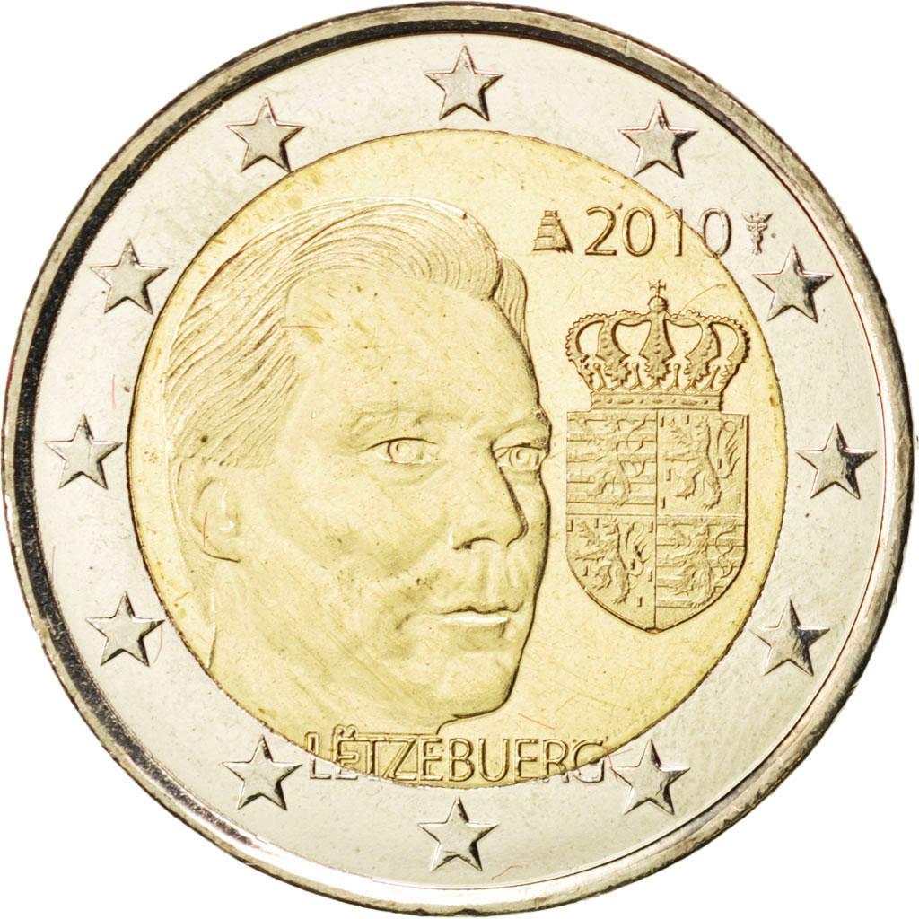 84999 luxembourg 2 euro armoiries du grand duc 2010. Black Bedroom Furniture Sets. Home Design Ideas