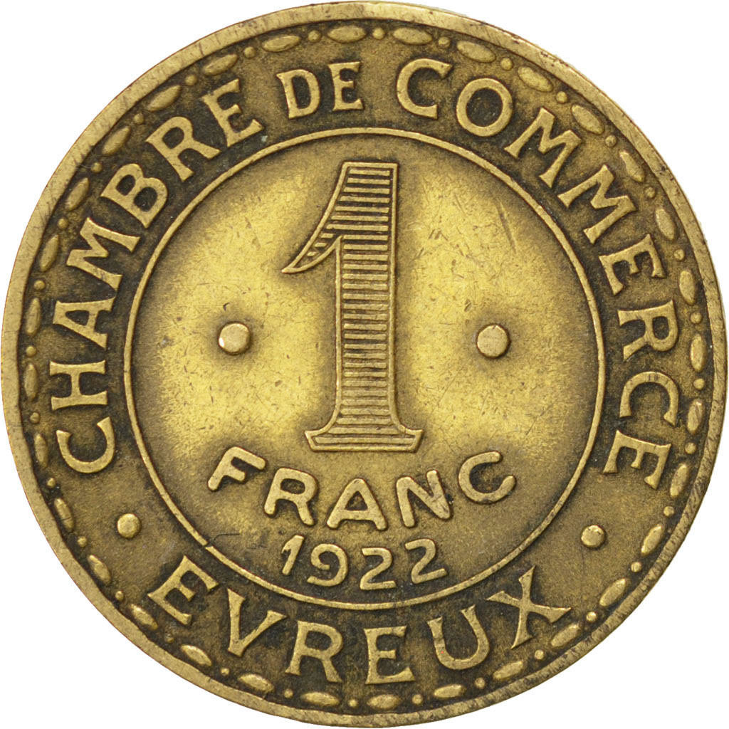 85568 evreux chambre de commerce 1 franc 1922 elie 10 for Chambre de commerce evreux