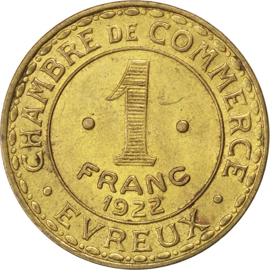 85569 evreux chambre de commerce 1 franc 1922 elie 10 for Chambre de commerce evreux