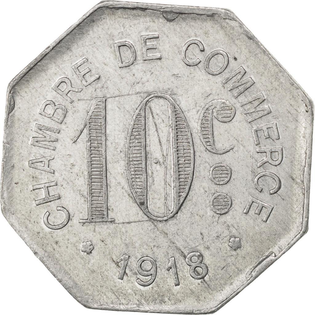 85908 rouen chambre de commerce 10 centimes 1918 elie 10 2 ttb 10 centimes de 5 15. Black Bedroom Furniture Sets. Home Design Ideas