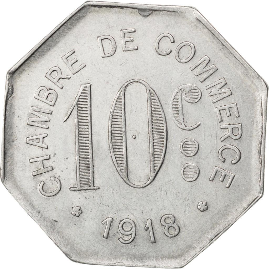 85909 rouen chambre de commerce 10 centimes 1918 elie 10 2 ttb 10 centimes de 5 15. Black Bedroom Furniture Sets. Home Design Ideas