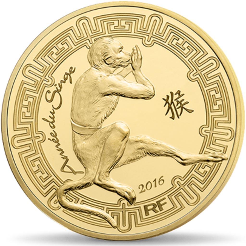 93598 france monnaie de paris 50 euro ann e du singe 2016 fdc gold fdc 50 euro de 151. Black Bedroom Furniture Sets. Home Design Ideas