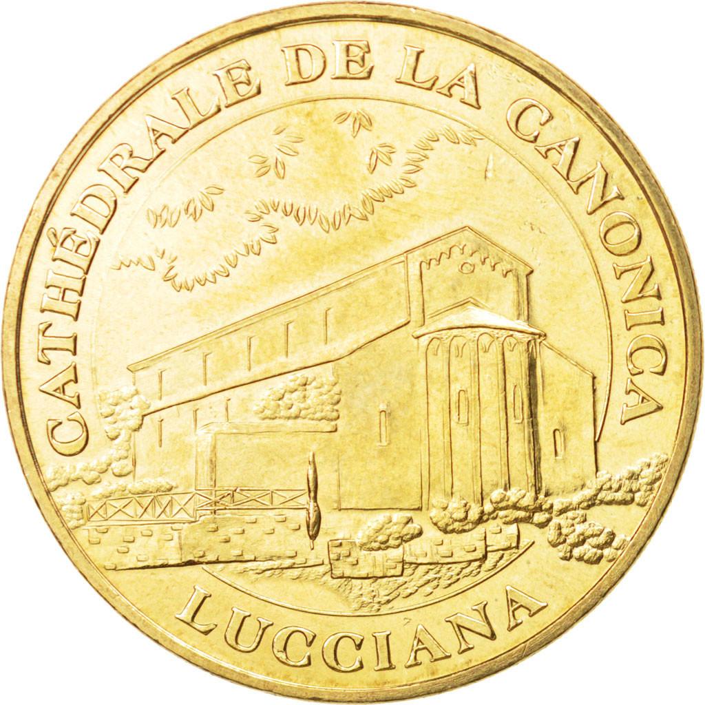 Lucciana France  City new picture : 94320 France, Tourist Token, 20/ Cathédrale de la Canonica Lucciana ...