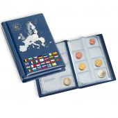 Coin Wallet for 12 Euro Coin Sets, blue, Bleu, Leuchtturm:330102