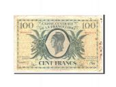 French Equatorial Africa, 100 Francs, 1941, Undated, KM:13a, VG(8-10)
