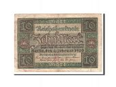Germany, 10 Mark, 1920, KM:67a, 1920-02-06, VF(20-25)