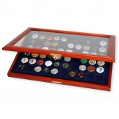 Display, Wood, Blue, for 60 champagne caps, Safe:5865