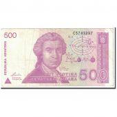 Croatie, 500 Dinara, 1991, KM:21a, 1991-10-08, TTB