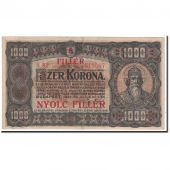 Banknote, Hungary, 8 Fillér on 1000 Korona, 1923, 1923-07-01, KM:81b, EF(40-45)