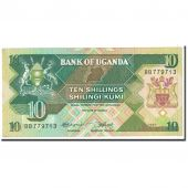 Billet, Uganda, 10 Shillings, 1987, Undated, KM:28, SPL