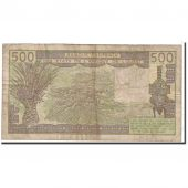 Billet, West African States, 500 Francs, 1981, Undated, KM:706Kc, TB