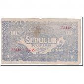 Banknote, Indonesia, 10 Rupiah, 1948, 1948-01-01, KM:S190c, VF(20-25)