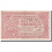 Banknote, Indonesia, 25 Rupiah, 1948, KM:S191a, VF(20-25)