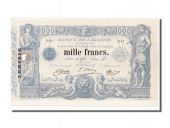 Tunisia, 1000 Francs type 1875 altered blue