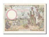 Tunisia, 1000 Francs type 1940 farmers family